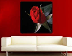 Red Rose Wall Prints Sticker Mural Vinyl Art Home Decor Contemporary Wall Decals By Style And Apply