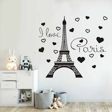 Removable I Love Paris Decal Vinyl Stickers Paris Eiffel Tower France Home Interior Kids Bedroom Living Room Decor Mural Ny 371 Decoration Murale Stickers Parisroom Decoration Aliexpress