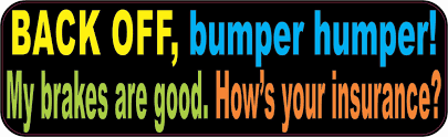 10in X 3in Colorful Back Off Bumper Humper Sticker Vinyl Truck Window Decal Back Off Window Decals Bumper Magnets