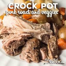 crock pot pork roast and veggies