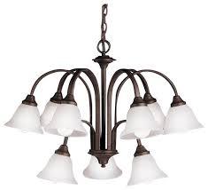 light 2 tier tannery bronze chandelier