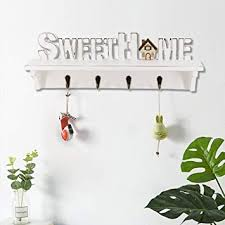 Amazon Com Mjtp Coat Rack Wall Mounted Deco With 4 Hooks And Home Decor For Kitchen Wall Mounted Coat Hooks Clothes Rack Kids Room Decoration Office Products