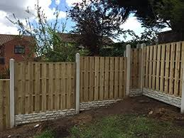 Hit Miss Wind Proof Fence Panels 6ft X 4ft High Flat Top Amazon Co Uk Garden Outdoors