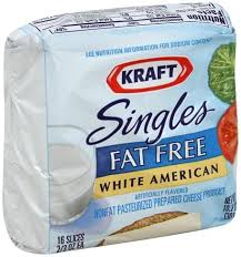 fat free white american cheese