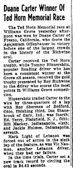 Duane Carter wins Williams Grove and sets new track record 10-22-1950 -  Newspapers.com