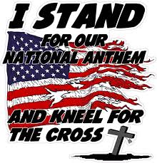 Amazon Com I Stand For Our National Anthem And Kneel For The Cross 5 Decal Automotive