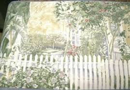 Country Picket Fence White And Gray Sculptured Wallpaper Border 30ft