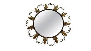vintage brass sunburst mirror 1960s
