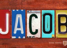 Jacob License Plate Name Sign Fun Kid Room Decor Greeting Card For Sale By Design Turnpike