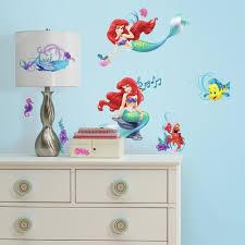 Disney Princess The Little Mermaid Wall Decals 10 Ct Package Walmart Com Walmart Com