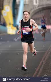 Ben Johnson 166 running in the Vitality Big Half marathon crossing ...