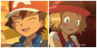 Ash complimenting Serena's outfit for her 2nd showcase<3 Pokemon Xy episode  80. Amourshipping FTW!   Pokemon ash and serena, Pokemon, Pokemon ships