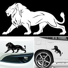 2020 The Lion Car Stickers Super Large 20cm 10cm Black White Reflective Car Styling Covers Accessories From Ordermix 0 55 Dhgate Com