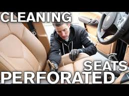 cleaning perforated leather car seats