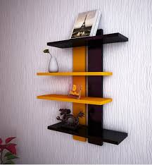 wooden ladder shape 4 tier wall shelf