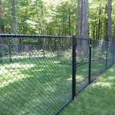 China 5ft Black Or Green Color Coated Chain Link Fence And Post China Garden Fencing Chain Link Garden Fencing