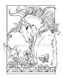 Volwassen Kleurplaat Digitale Download Eenhoorn Bloemen Etsy