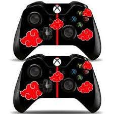 2 Pack Xbox One Controllers Remote Vinyl Skin Decals Akatsuki Red Clouds Naruto Ebay