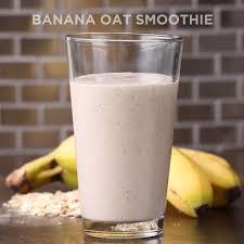 3 ing banana oat smoothie recipe