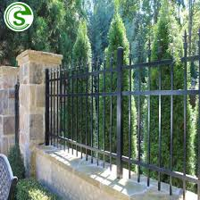 China Black Color Garden Fencing Panels Small Fence For Fencing Front Yard China Home Fencing Panel Front Yard Fence