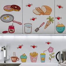 Removable Waterproof Kitchen Tile Decor Wall Stickers Decal Mural Food Pattern For Sale Online Ebay