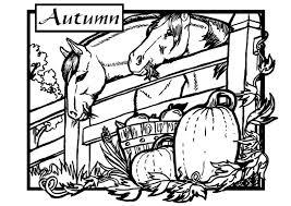 Kleurplaat Herfst Paarden Gratis Kleurplaten Om Te Printen