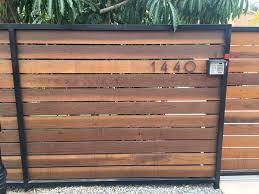 Photo Of San Diego Fences Gates San Diego Ca United States Horizontal Redwood Fence 5 5 Pickets St Wood Fence Gates Wood Fence Design Modern Wood Fence