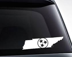 Tennessee Flag Decal Etsy