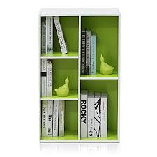 Open Shelf Bookcase 5 Cube Bin Storage Organizer Kids Room Small White Green Ebay