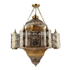 arabian chandelier antique brass color