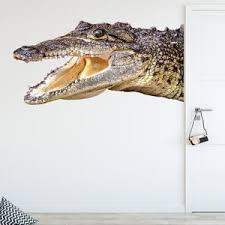 Alligator Head Wall Decal Peel And Stick Room Corner Wall Sticker Vwaq G501 Wall Decal
