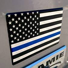 Usa United States Of America Thin Blue Line Flag Car Truck Raised Clear Lens Sticker Decal 3 X 2 3d Lettering Boats Lettering