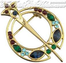 celtic tara brooch gold plated
