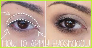 how to apply eyeshadows for beginners