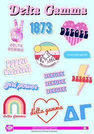Delta Gamma Girl Power Sticker Sheet Sororityshop