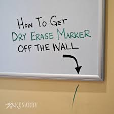 dry erase marker removal how to get it