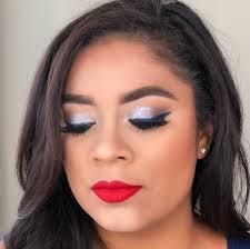 4th of july makeup look 4 kelsie kristine