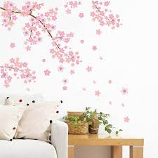 Pink Butterfly Flower Tree Wall Stickers Decals Girls Women Flower Mural Vinyl Wallpaper Home Living Room Bedroom Decor Vinyl For Wall Decals Vinyl Sticker Wall Art From Supper007 2 89 Dhgate Com