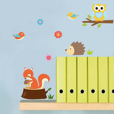 Kawaii Removable Zoo Animals Wall Sticker Decal For Kids Baby Nursery Room Decor For Sale Online Ebay