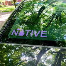 Michigan Car Decal Native Michigan Michigan Car Decal Great Etsy