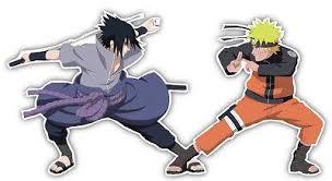 Naruto And Sasuke Anime Car Window Decal Sticker E004 Anime Stickery Online
