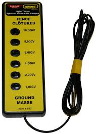 6 Light Electric Fence Tester Parmakusa