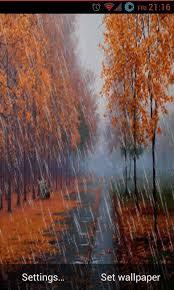 autumn rain live wallpaper apk