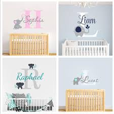 Custom Personalized Name Stickers Wall Decal Baby Bedroom Elephant Vinyl Decal Kid Boys Girls Room Name Nursery Decoration Xy001 In 2020 Boy Girl Room Elephant Wall Decals Name Wall Stickers