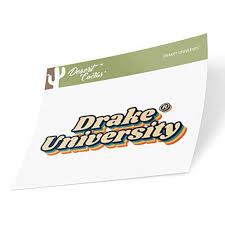 Drake University Bulldogs Ncaa Vinyl Decal Laptop Water Bottle Car Scrapbook 70 S Name Sticker Walmart Com Walmart Com