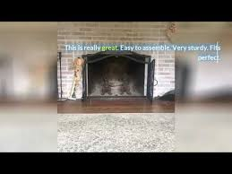fireplace screen with doors large flat