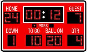 Amazon Com Vwaq Football Scoreboard Wall Sticker Peel And Stick Sports Decor Vinyl Decal Pas30 18 H X 30 W Red Home Kitchen