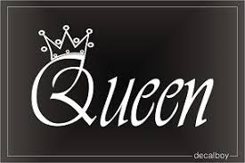 Queen Crown Decals Stickers Decalboy