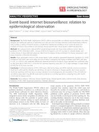 Event-based internet biosurveillance ...
