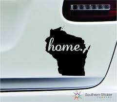Amazon Com Expressdecor 2 Home Wisconsin Symbol Decal Family Love Car Truck Sticker Window Black Automotive
